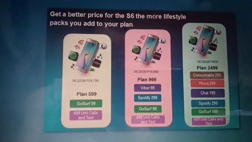 Samsung S6 and S6 Edge available with Globe My Lifestyle Plans
