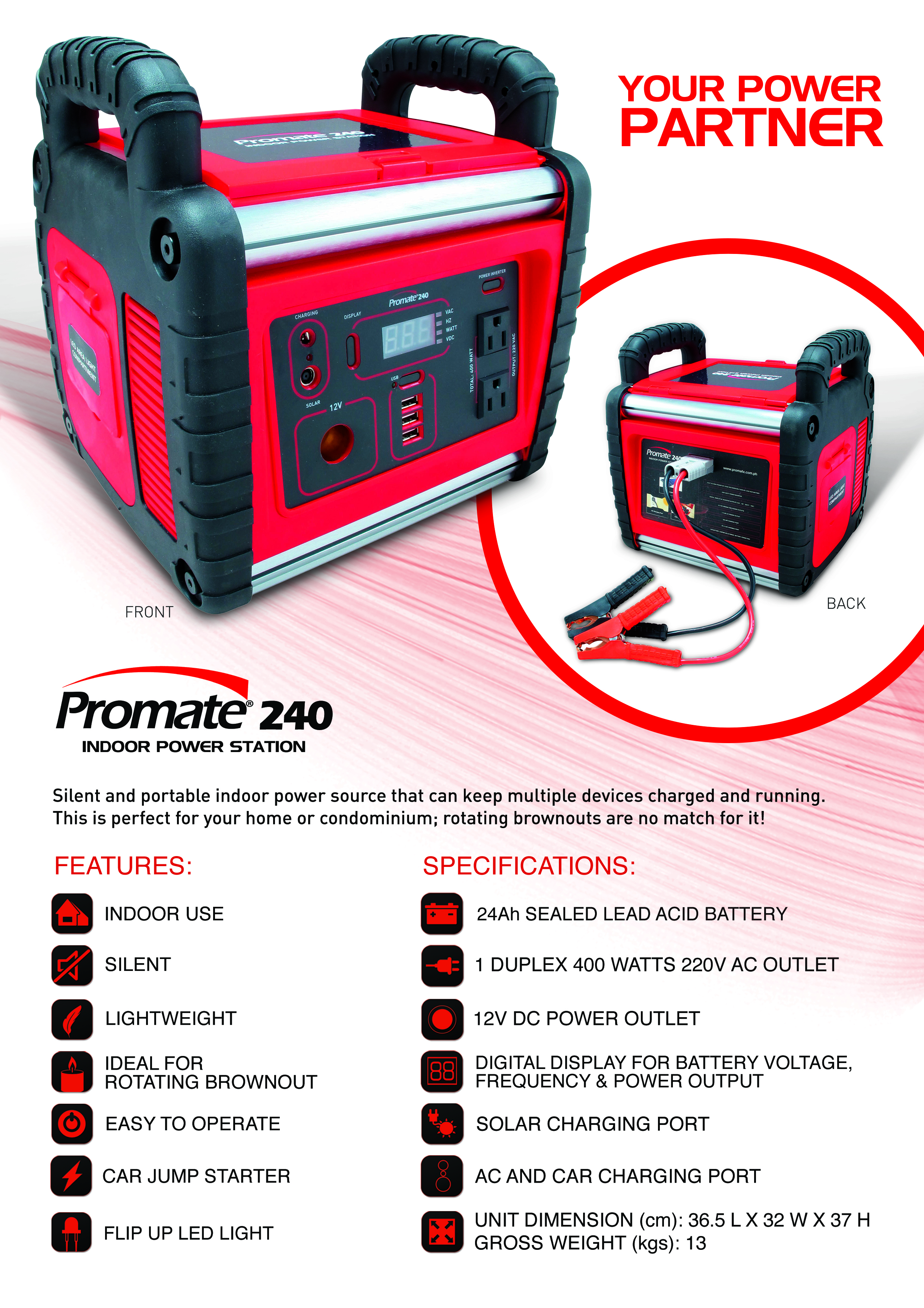 Promate 240 The Safe And Reliable Back Up Power Solution