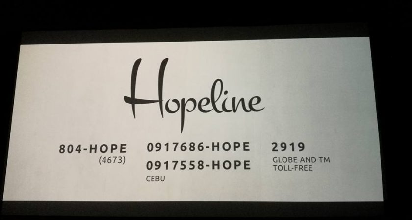 HOPELINE is there for you. Watch their video Companion