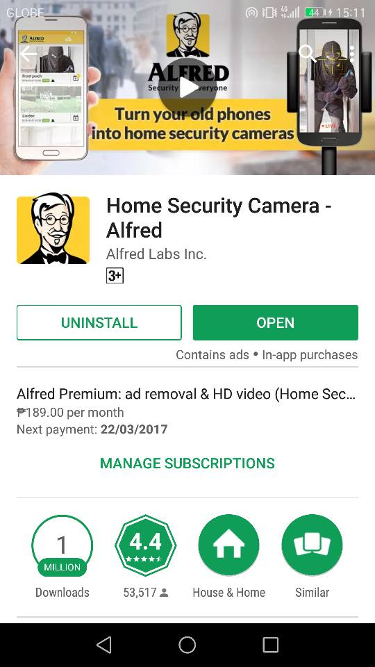You can download Alfred for free.. set it up in less than 2 minutes in 2  phones one as a viewer, one as a camera use the same gmail address on  both. ...